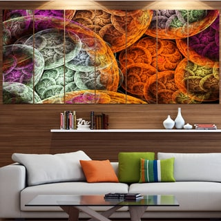 Designart 'Multi-Color Dramatic Clouds' Abstract Wall Art on Canvas