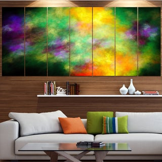 Designart 'Colorful Sky with Blur Stars' Abstract Artwork on Canvas