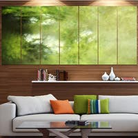 Designart 'Blur Green Sky with Stars' Abstract Artwork on Canvas