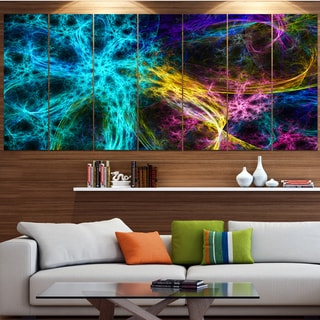 Designart 'Glowing Abstract Fireworks' Abstract Artwork on Canvas