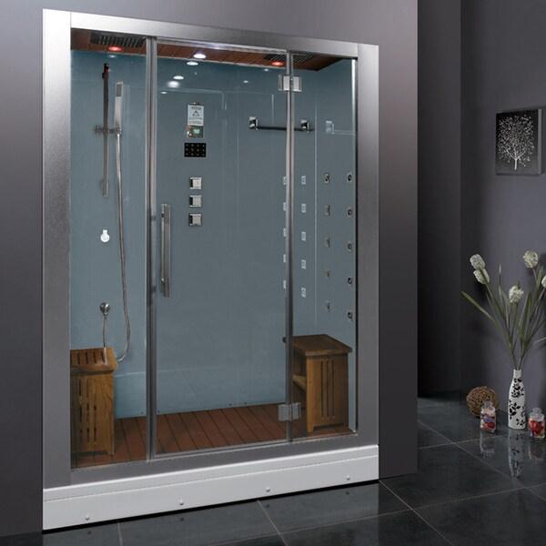 Ariel Bath Dz972f8 W Platinum Steam Shower With Sauna 59 X 32