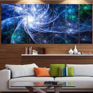 Designart 'Blue Fractal Star Pattern' Abstract Artwork on Canvas