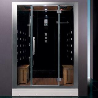 Ariel Bath DZ972F8 Black Steam Shower