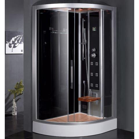 Ariel Bath DZ967F8 R Platinum Right Configuration Steam Shower and Sauna