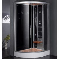 Ariel Bath DZ967F8 R Platinum Right Configuration Steam Shower and Sauna