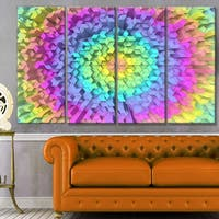 Designart 'View of Colorful Geometric Shapes' Abstract Art on Canvas