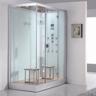 Ariel Bath DZ961F8W R Platinum 59-inch x 35.4-inch Steam Shower and Sauna