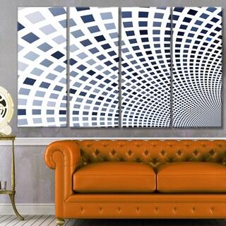 Designart 'Blue Square Pixel Mosaic Illustration' Abstract Wall Art Canvas