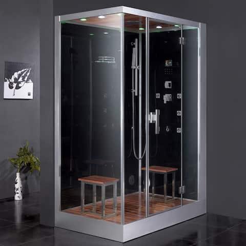 Ariel Platinum DZ961F8 Black Right Steam Shower