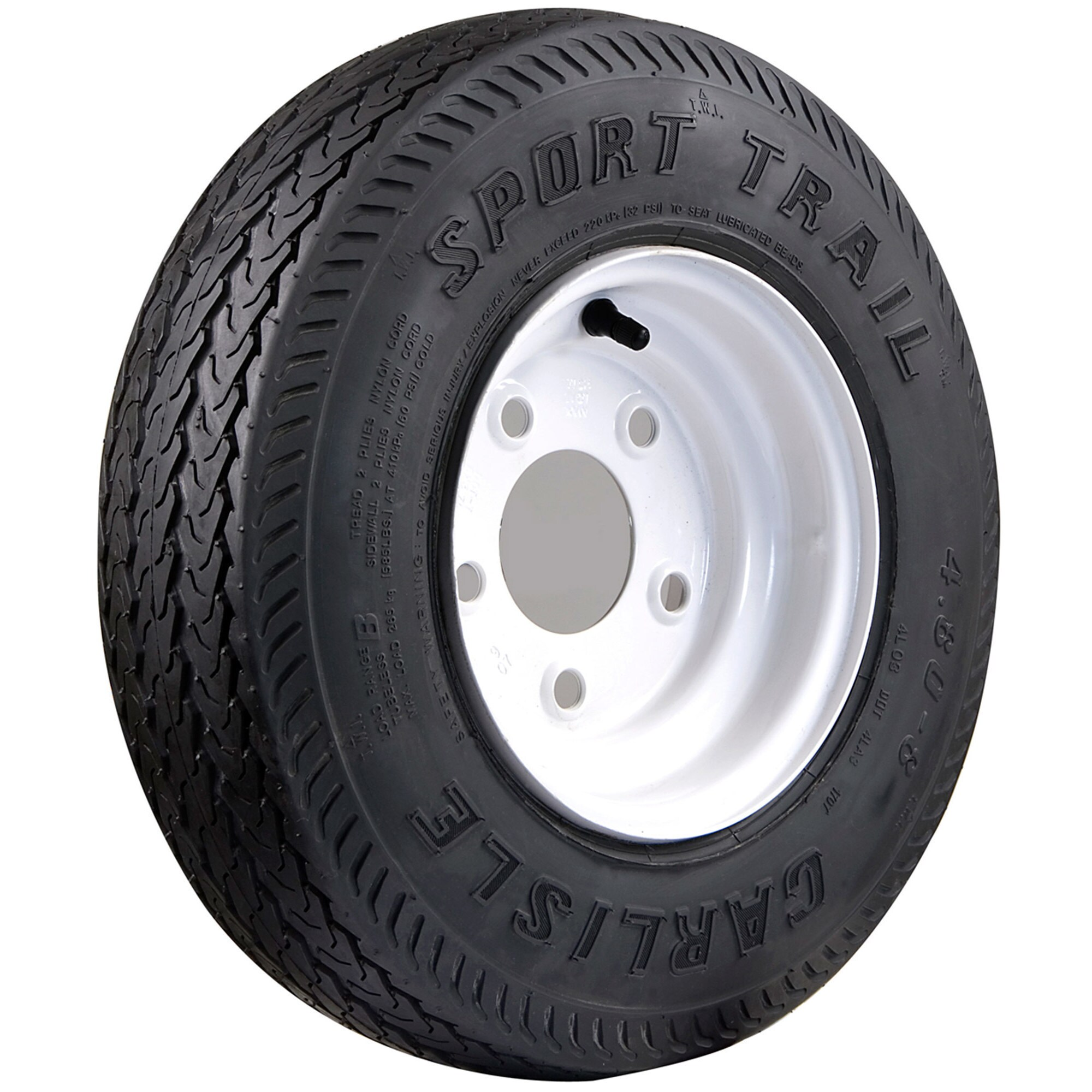 Carlisle Sport Trail Bias Trailer Tire - 480-8 LRB/4 ply ...