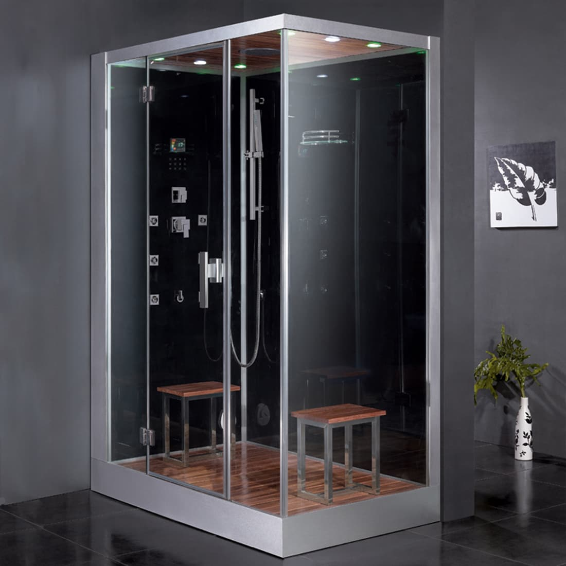 Ariel Platinum Glass Steam Shower (Black)