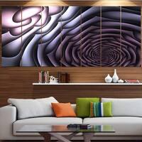 Designart 'Purple Flower Shaped Fractal Art' Abstract Wall Art Canvas