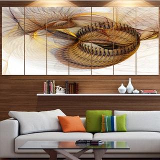 Designart 'Abstract Brown Spiral Texture' Abstract Wall Art Canvas
