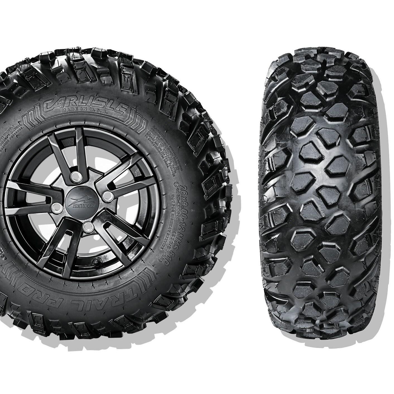 Carlisle Trail Pro ATV Tire - 25X800-12 LRB/4 ply (Black)