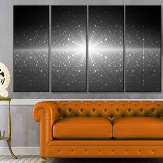 Designart 'Stardust and Bright Shining Stars' Abstract Wall Art Canvas