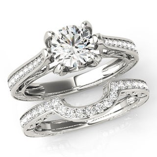 Scintilenora Vintage Style Certified Diamond Bridal Wedding Set 18k Gold 1 1/2 TDW