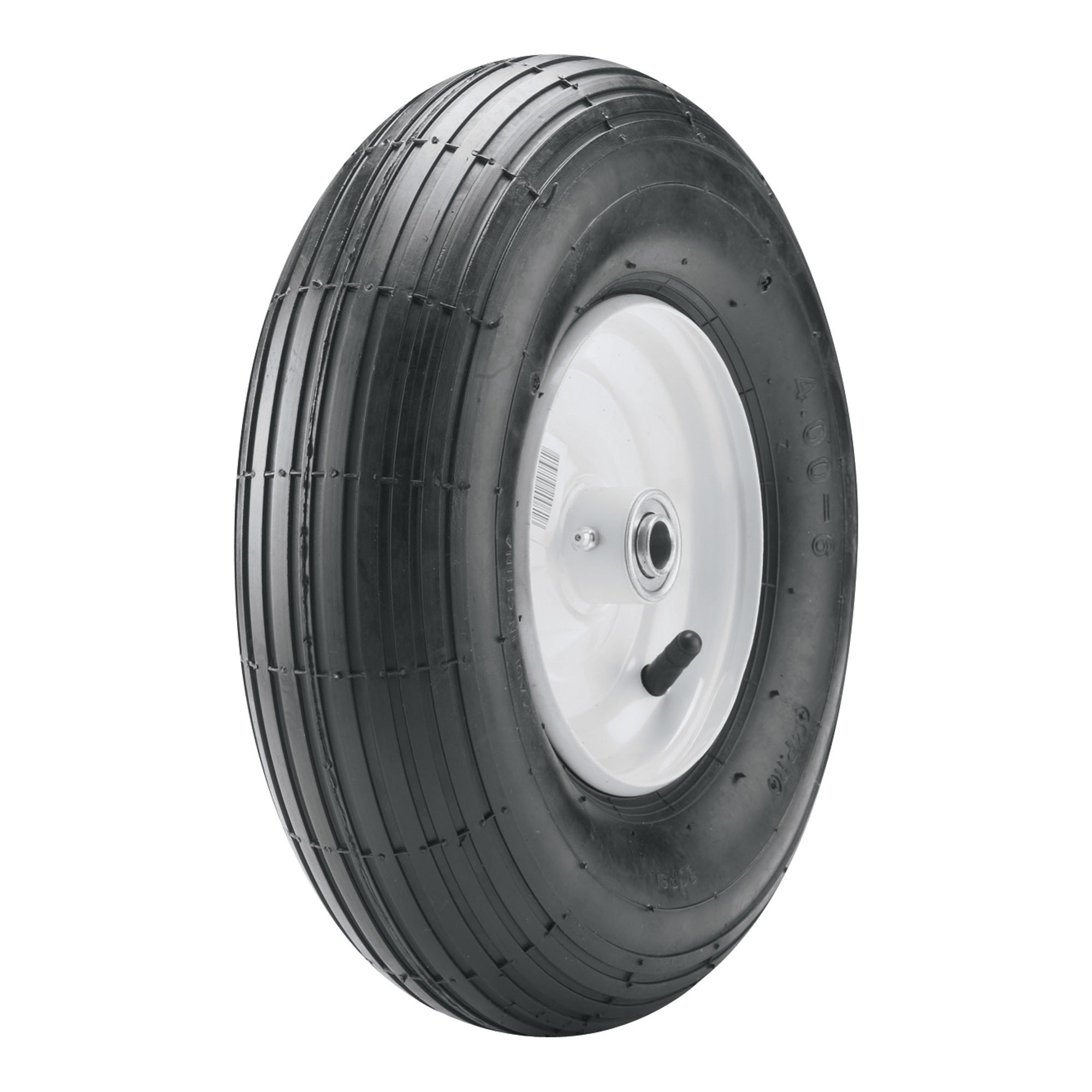 Carlisle Wheelbarrow Tire - 480-8 LRB/4 ply (Black) #5130511