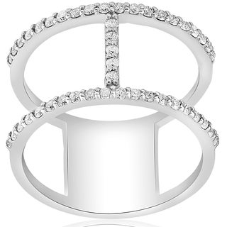 14K White Gold 1 ct TDW Fashion Diamond H Wide Right Hand Ring (G-H,I1-I2)