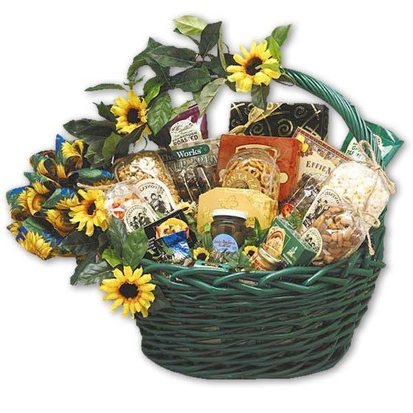 Sunflower Treats Large Gift Basket