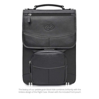 MacCase Premium Leather 15-inch Laptop Briefcase Backpack