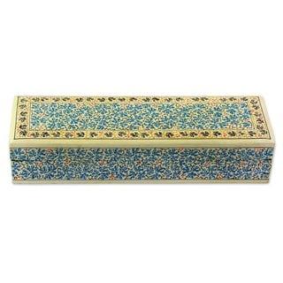 Handmade Chinar Charm Decorative Wood Box (India)