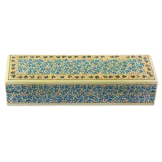 Decorative Wood Box, 'Chinar Charm' (India)