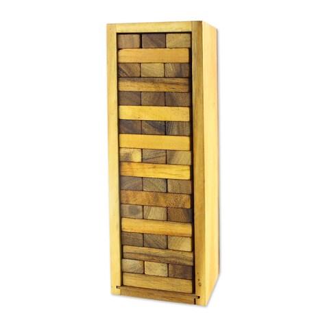 Handmade Wood Stacking Game, 'Tower of Fun' (Thailand)