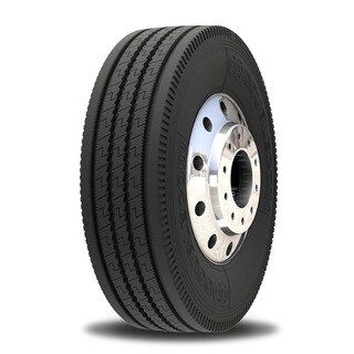 Double Coin RT606 Ultra Premium 5-Rib Regional Steer/All-Position Commercial Radial Truck Tire - 295/75R22.5 14 ply