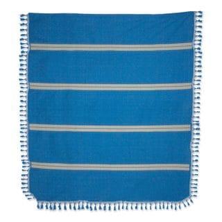 Link to Zapotec Cotton Bedspread, 'Oaxaca Ocean' Similar Items in Bedspreads