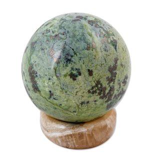 Serpentine Sphere, 'Natural World' (Peru)
