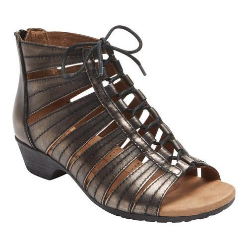 Women's Rockport Cobb Hill Gabby Gladiator Bootie Pewter Leather - Free  Shipping Today - Overstock.com - 21823621