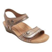 Women's Rockport Hollywood 2 Piece Sandal Khaki Leather