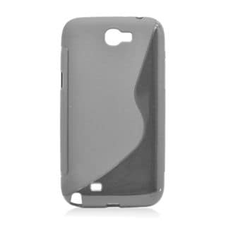 Insten Black S Shape TPU Rubber Candy Skin Case Cover For Samsung Galaxy Note II