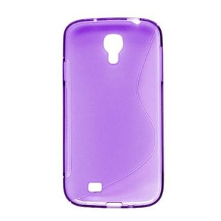 Insten Purple Clear S Shape TPU Rubber Candy Skin Case Cover For Samsung Galaxy S4 GT-i9500