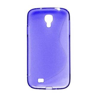 Insten Blue Clear S Shape TPU Rubber Candy Skin Case Cover For Samsung Galaxy S4 GT-i9500