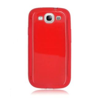 Insten Red TPU Rubber Candy Skin Case Cover For Samsung Galaxy S3 GT-i9300