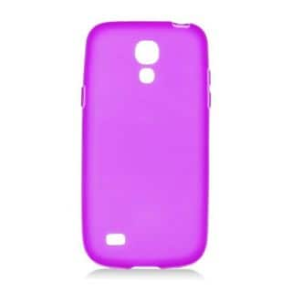 Insten Purple Frosted TPU Rubber Candy Skin Case Cover For Samsung Galaxy S4 Mini GT-I9190