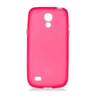 Insten Red Frosted TPU Rubber Candy Skin Case Cover For Samsung Galaxy S4 Mini GT-I9190