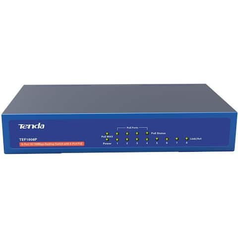Tenda TEF1008P 8-Port 10/100 Mbps Unmanaged Switch