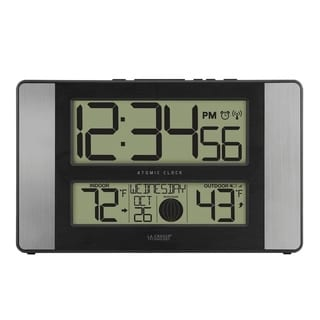 La Crosse Technology 513-1417AL Atomic Digital Clock with Temp