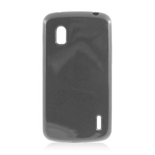 Insten Black TPU Rubber Candy Skin Case Cover For LG Google Nexus 4 E960