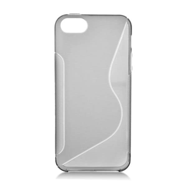 Insten Smoke Clear S Shape TPU Rubber Candy Skin Case Cover For Apple iPhone 5/ 5S