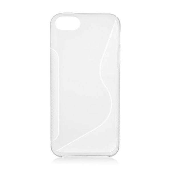 Insten Clear S Shape TPU Rubber Candy Skin Case Cover For Apple iPhone 5/ 5S