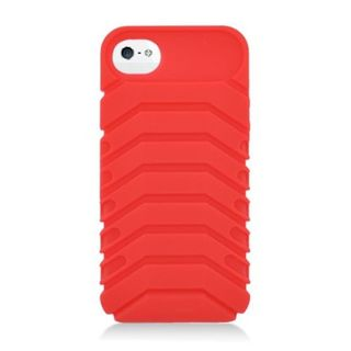 Insten Red 3D Ridge Soft Silicone Skin Rubber Case Cover For Apple iPhone 5/ 5C/ 5S