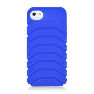 Insten Blue 3D Ridge Silicone Skin Gel Rubber Case Cover For Apple iPhone 5/ 5C/ 5S