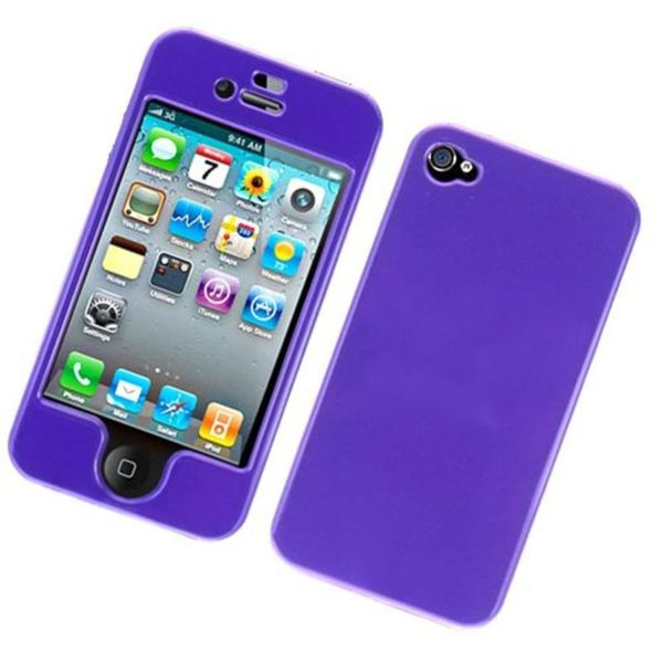 Insten Purple Hard Snap-on Glossy Case Cover For Apple iPhone 4/ 4S