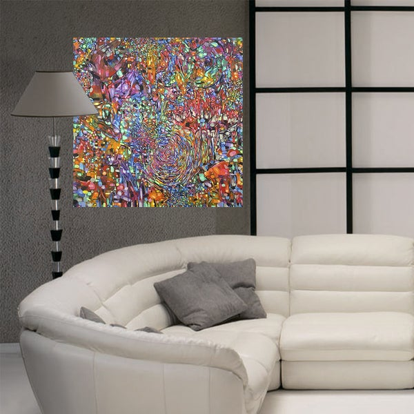 Full Color Bright Painting Modern Art Gallery Wall Decal Sticker 22 X