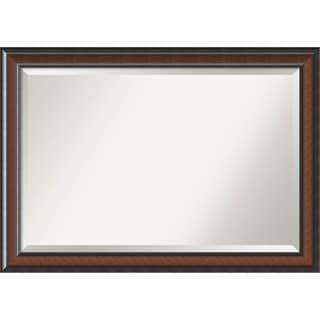 Bathroom Mirror Extra Large, Cyprus Walnut 41 x 29-inch - Brown - 28.88 x 40.88 x 1.48 inches deep