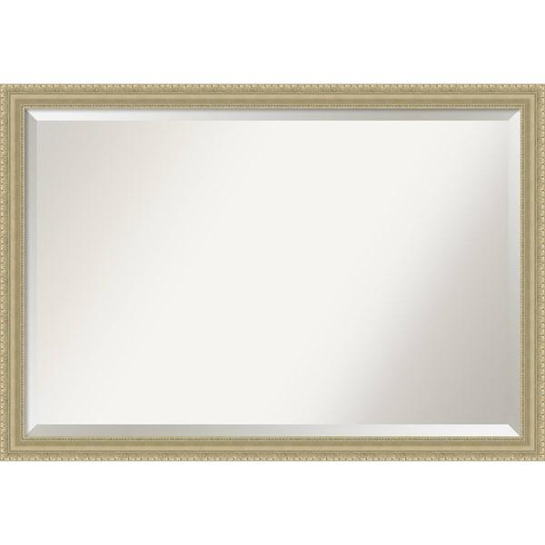 Bathroom Mirror Extra Large, Champagne Teardrop 39 x 27-inch