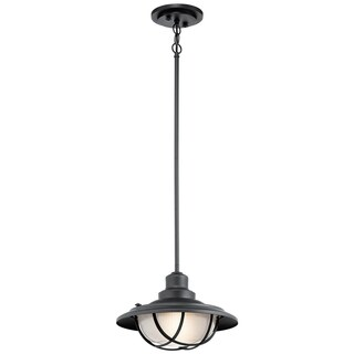 Kichler Lighting Harvest Ridge Collection 1-light Textured Black Outdoor Pendant